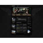 Facebook HTML CMS Admirer Design #42284