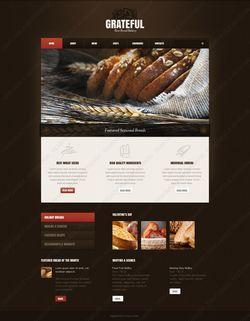 Facebook HTML CMS Bread Design #42209
