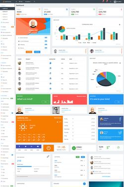 Admin Backendtemplate Design #64542